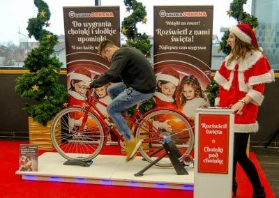Lublin – energorower rozświetla święta