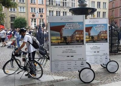 Gdańsk – rowerowe billboardy zgrafiką Galerii Forum