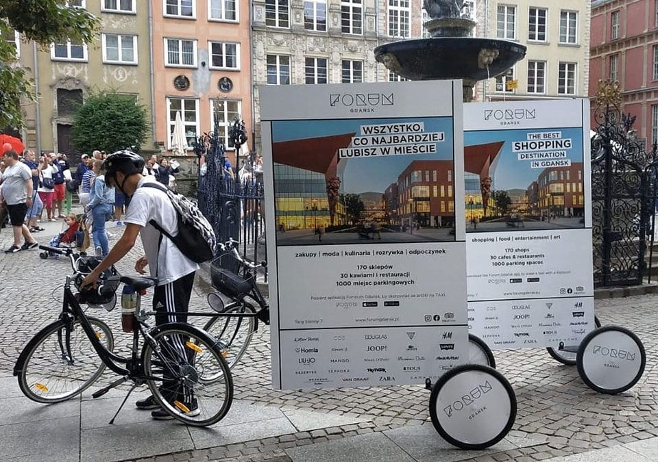 Gdańsk – rowerowe billboardy z grafiką Galerii Forum